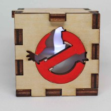 Ghostbusters Wood Lit White LED Tea Light