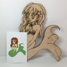Mermaid coloring or painting