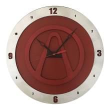 Borderland Clock on Red Background