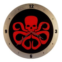 Hydra Clock on Black background