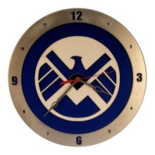 Shield Clock on Blue background