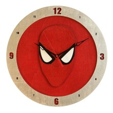 Spiderman Clock on Red background