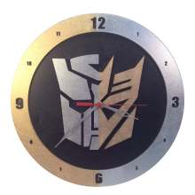 AutoCon Transformers Gold and Silver Clock