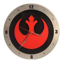 Star Wars Rebel Clock on Black Background