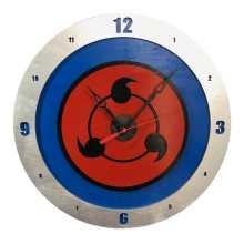 Sharingan Clock on Blue Background