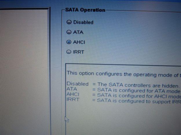 AHCI BIOS SSD
