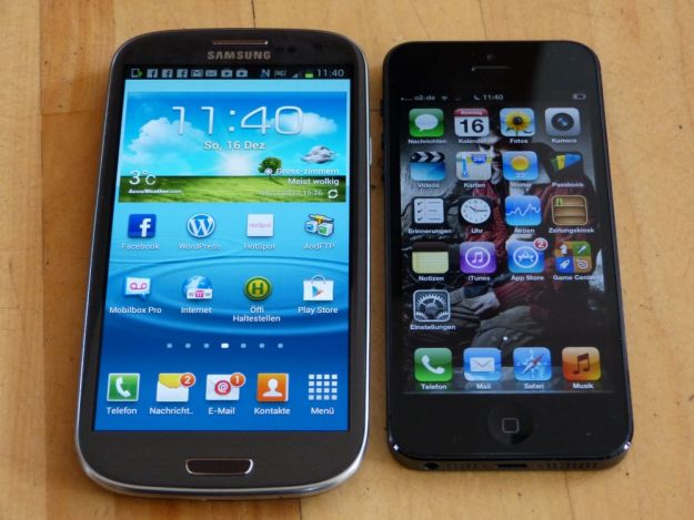 Samsung Galaxy S3 oder Apple iPhone 5
