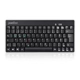 Perixx Periboard-804II DE Bluetooth Tastatur (bis zu 10 Meter Reichweite, Ein/Aus-Schalter, Li-Ion Batterie, Android geeignet, QWERTZ Layout) schwarz