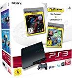PlayStation 3 - Konsole Slim 160 GB + Gran Turismo 5 [Platinum] + LittleBigPlanet 2 [Platinum]