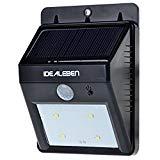 Idealeben 46 LED Solarlampe mit Bewegungsmelder Wandleuchte für Garten / Solar Gartenleuchten (Panel Licht, Aluminium Gehäuse, Kaltweiß)