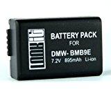 "LOOKit ® Markenakku BMB9E - 895mAh -100% dekodiert! mit Infochip - mit Restlaufzeitanzeige - ""neueste Generation"" Für Panasonic Lumix DMC FZ72 FZ62 FZ45 FZ48 FZ100 FZ150 Leica V-LUX 3"