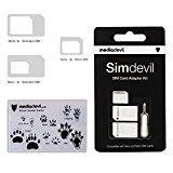MediaDevil Simdevil 3-in-1 SIM-Karten Adapter Set (Nano/Mikro/Standard)