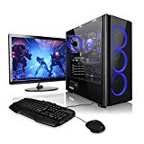 "Megaport Gaming Komplett PC AMD FX-6300 6x 3.50GHz • 22"" Full-HD LED • Gaming Tastatur+Maus Set • nVidia GeForce GTX960 • 1TB HDD • 8 GB RAM 1600 • Windows 10 • DVD RW • WLAN"