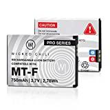 Wicked Chili Li-Ion 750 mAh Akku für AVM FRITZ!Fon C5 / C4 / M2 / MT-F Telefone 2,78 Wh