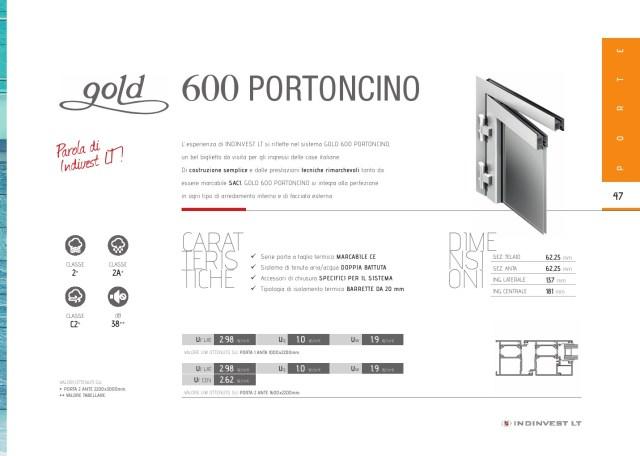 gold 600 portoncino