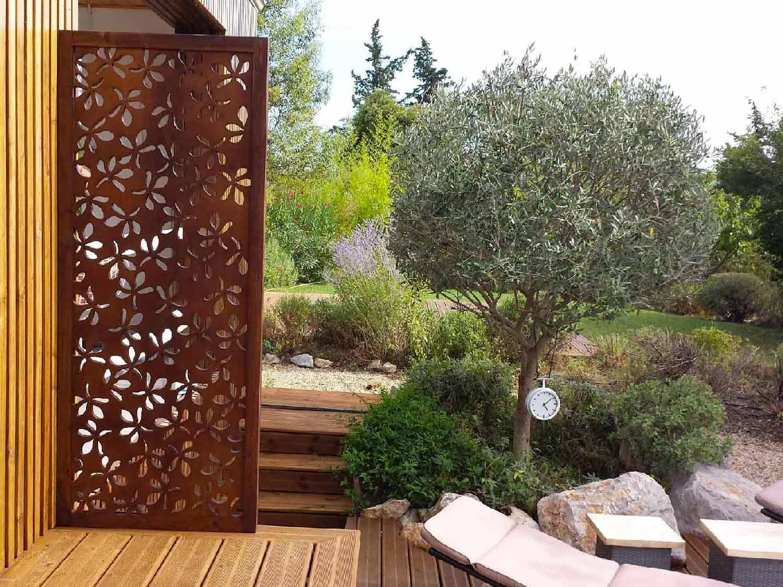 brise vue design pour un jardin