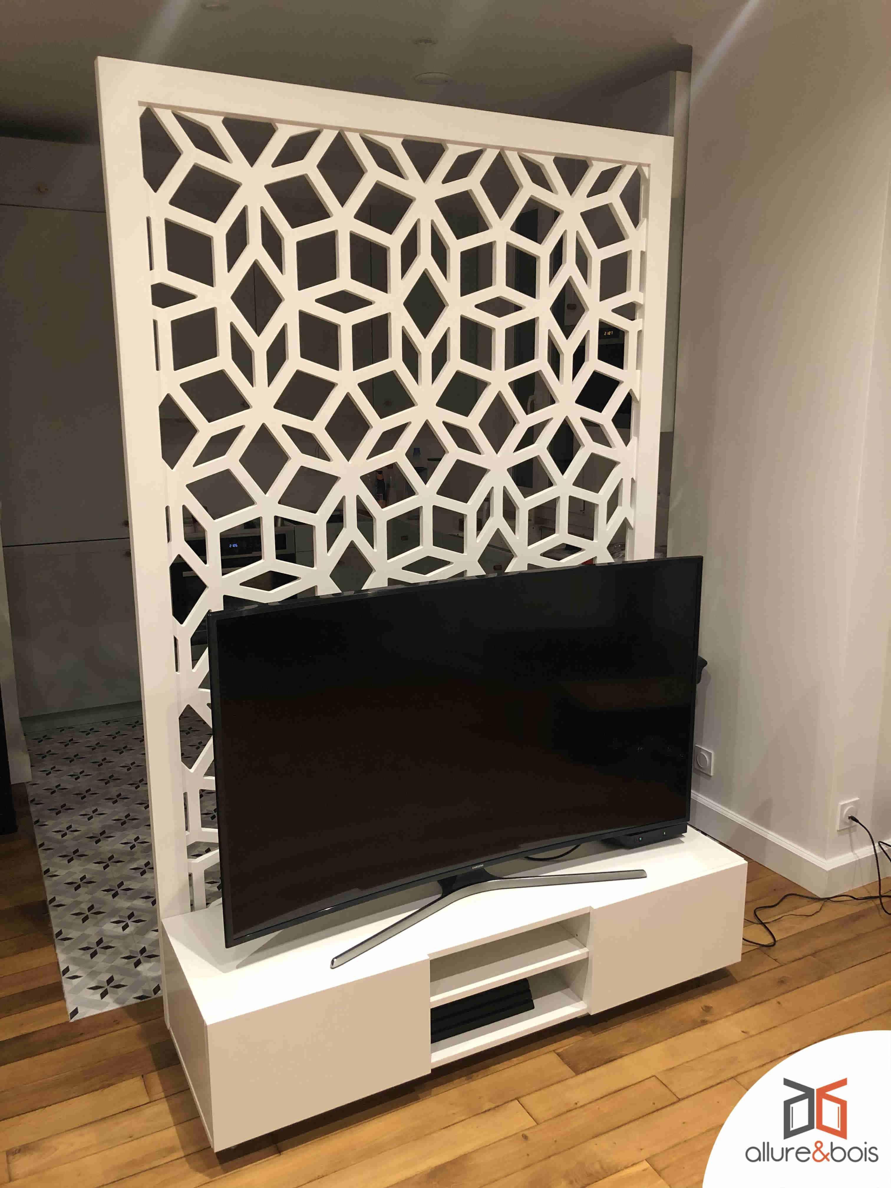 meuble tv en bois sur mesure les
