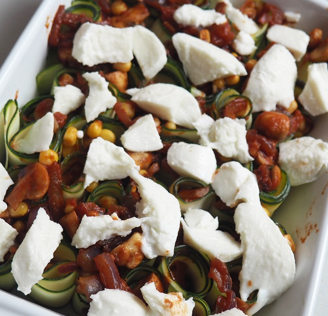 COURGETTE AND MOZZARELLA BAKE