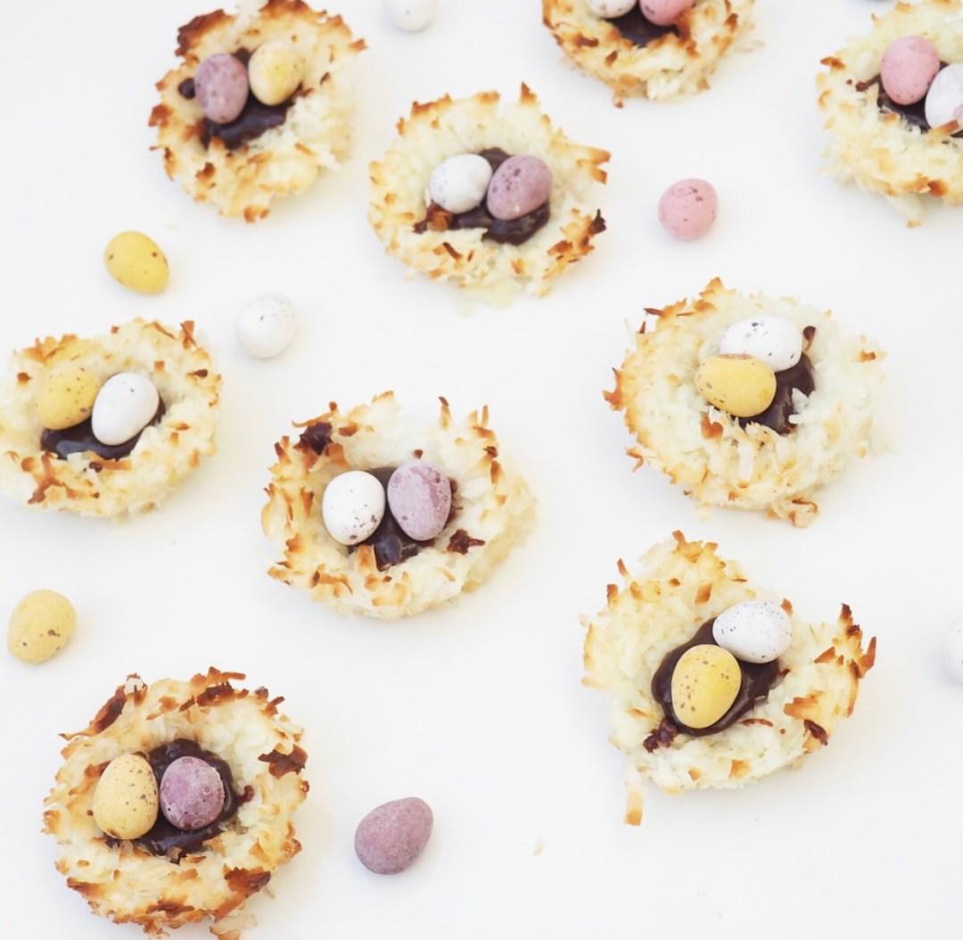 Coconut & Chocolate Mini Egg Nests