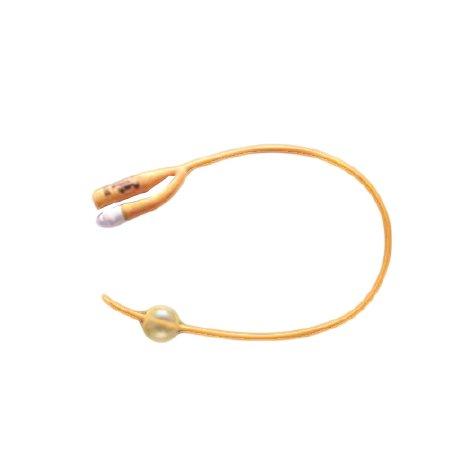 Foley Catheter PureGold 2-Way Coude Tip PTFE (Teflon) Coated Latex 5cc 16fr 10ea/bx