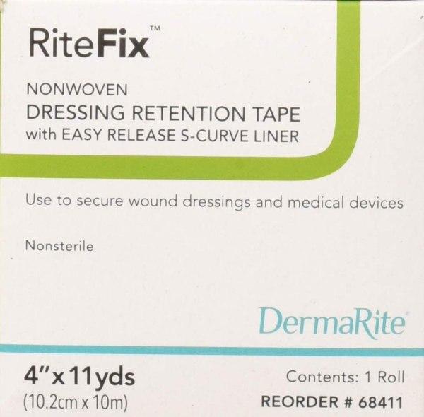 "RiteFIx Dressing Retention Tape 4""x11yd 1roll/bx"