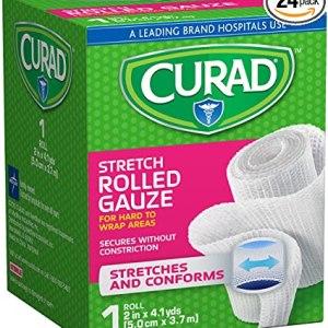 """CURAD Stretch Rolled Gauze, 2"""" x 4.1 yd. 24/CS"""