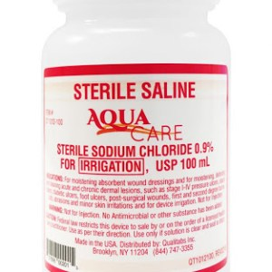 USP Sodium Chloride Saline Solution .9% for Irrigation, 100cc Bottle - 48/cs