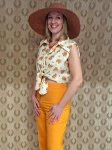 Helen in flares & hat