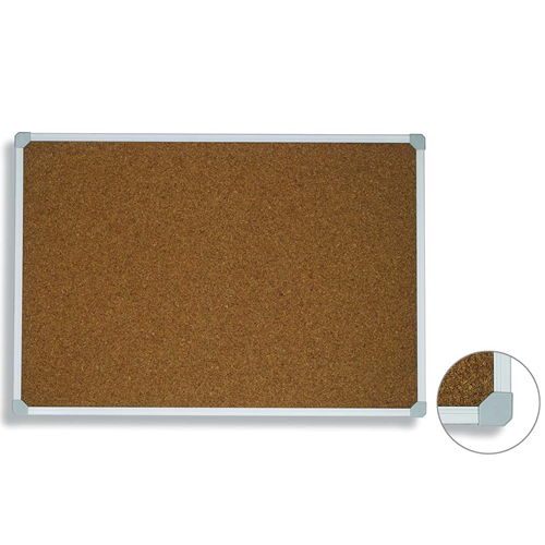 Aluminum Trim Framed Cork Pin Board