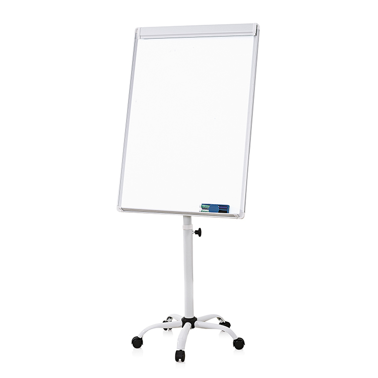 Mobile Flip Chart Easel With Clamp and Maker Tray