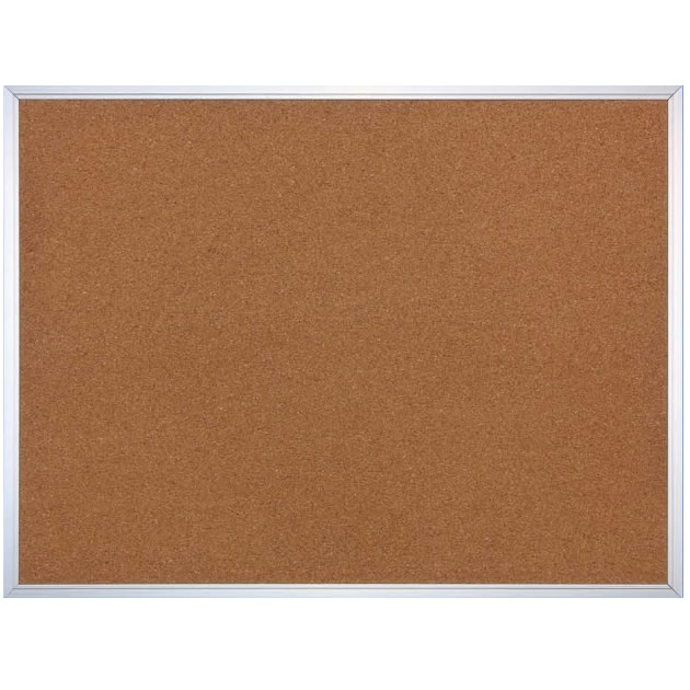 Cork Board with T16 Aluminum Trim Frame
