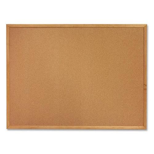 Natural Cork Bulletin Board Oak Wood Frame