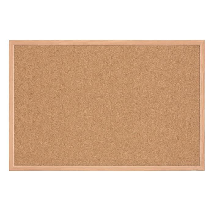 Oak Finish Frame Natural Bulletin Cork Board