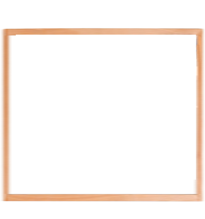 Wall Hanging Wooden Frame Solid Wood White Board