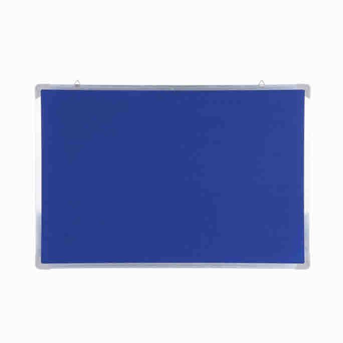 Aluminum Frame Blue Felt Memo Fabric Pin Board