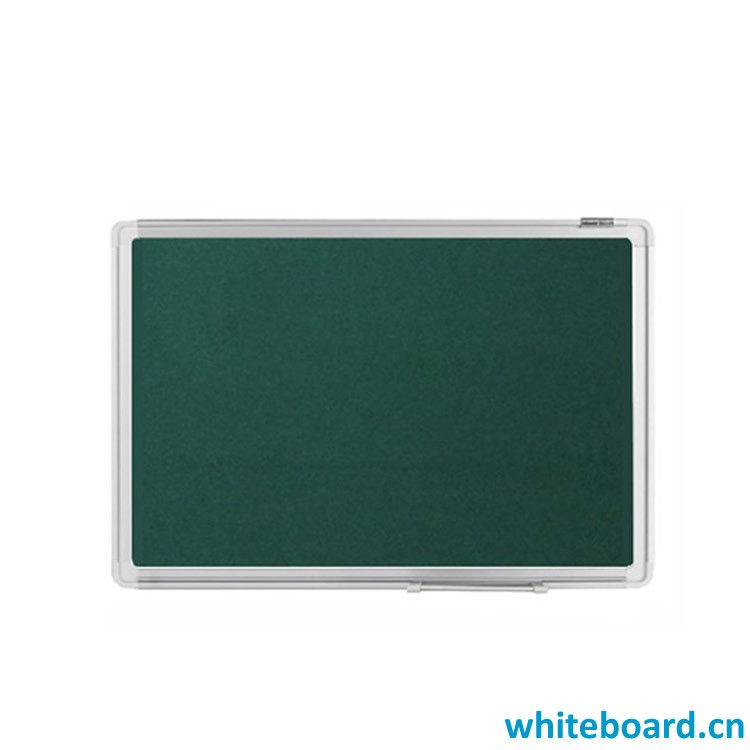 Green Push Pin Bulletin Board with Aluminium Frame & Tray