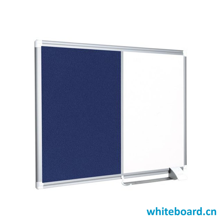 Single Side Felt Magnetic Dry-Erase Combination Bulletin Board