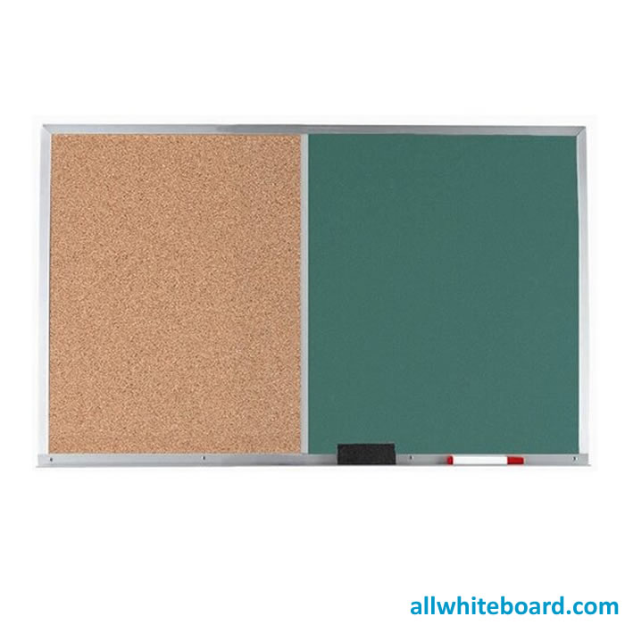 Cork Board Green Chalkboard Combination Board