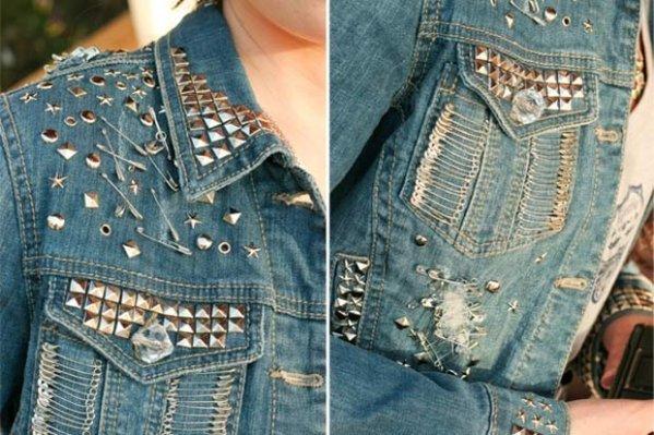 Отделка джинсовой куртки своими руками