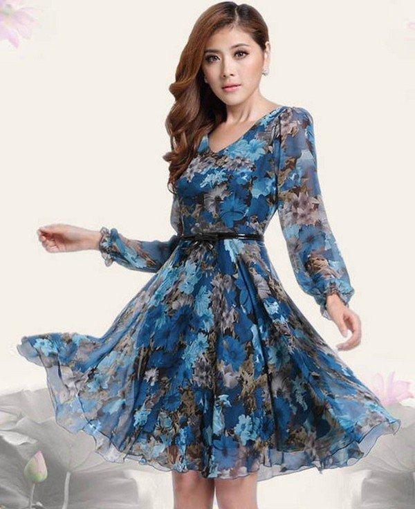 Платья из шифона и блузки: фото платьев и блузок