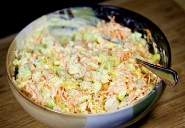 Салат с курицей и свежим огурцом простой Нежность