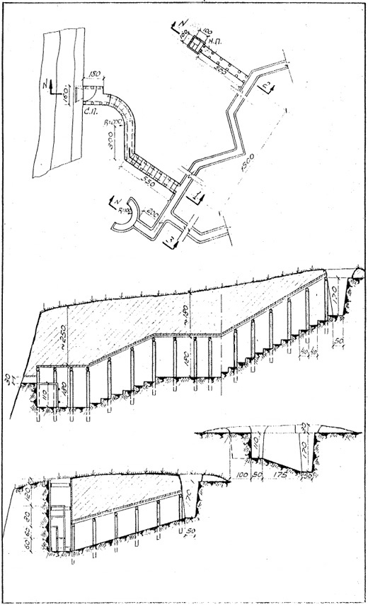 German Field Fortifications On The Eastern Front Album Of Drawings