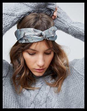 pastel print headband