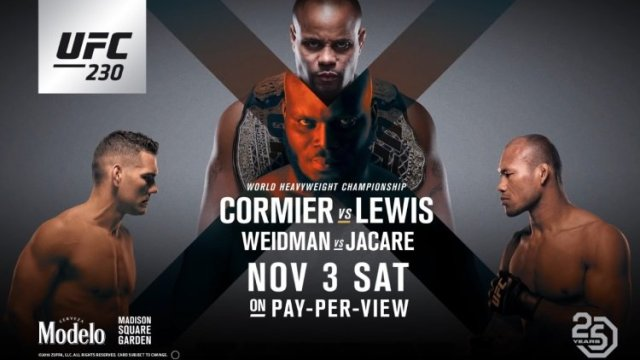 Watch UFC 230: Cormier vs. Lewis 11/3/2018 PPV Full Show Online Free