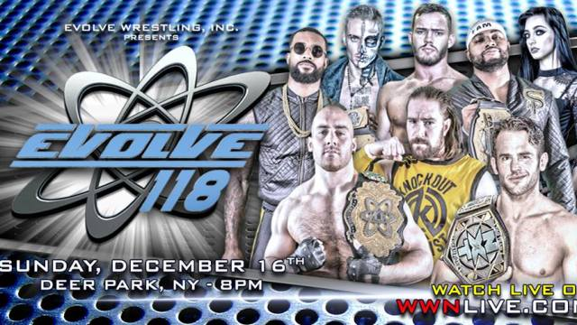Watch Evolve Wrestling 118 iPPV 12/16/2018 Full Show Online Free