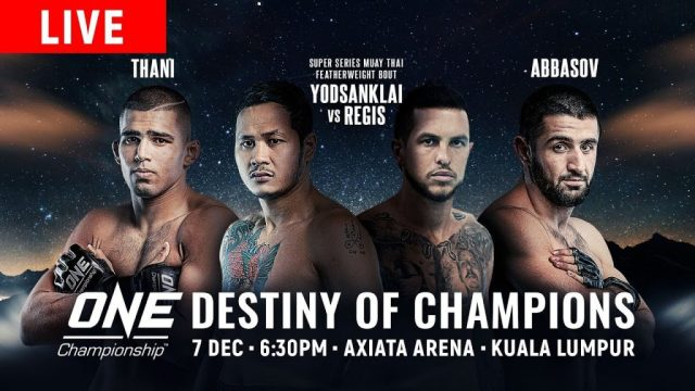 Watch ONE Championship 86: Destiny of Champions 12/7/2018 Full Show Online Free