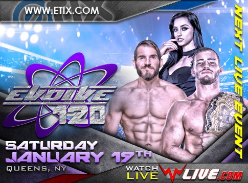 Watch Evolve Wrestling 120 iPPV 1/19/2019 Full Show Online Free