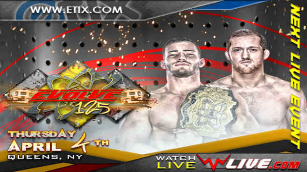 Watch Evolve Wrestling 125 iPPV 4/4/2019 Full Show Online Free