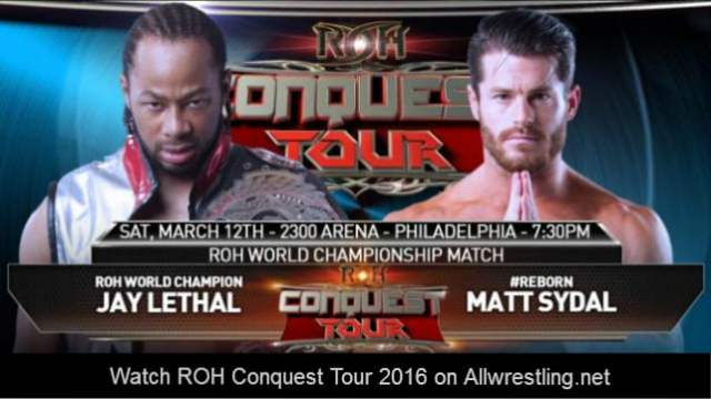 Watch ROH Conquest Tour 3/12/2016 Full Show Online Free