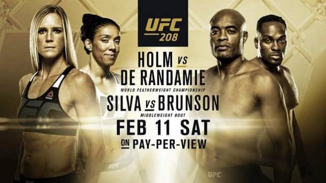 Watch UFC 208: Holm vs. De Randamie 2/11/2017 PPV Full Show Online Free